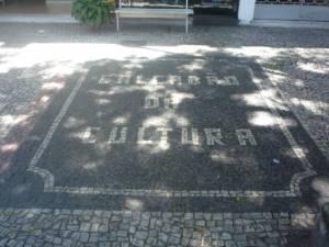 Calçada da Cultura em frente a Livraria Ideal