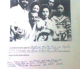 Luis Antônio Pimentel com suas vizinhas no Japão em 1937.