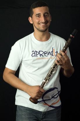 Grace Castro no piano e o músico Gabriel Dellatorre na clarineta.